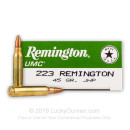 Bulk 223 Rem Ammo For Sale - 45 gr JHP Ammunition In Stock by Remington UMC
