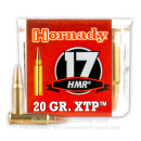 Premium 17 HMR Ammo For Sale - 20 gr XTP - Hornady Ammunition In Stock - 50 Rounds
