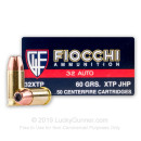 Cheap 32 ACP Ammo For Sale - 60 Grain XTP JHP Ammunition in Stock by Fiocchi Extrema - 50 Rounds