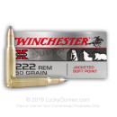 222 Remington Ammo For Sale - 50 gr JSP - Winchester Super X Ammo Online - 20 Rounds