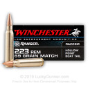 Bulk Match Grade 223 Rem LE Ammo For Sale - 69 gr HPBT Ammunition In Stock by Winchester Ranger - 200 Rounds