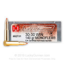 30-30 Ammo For Sale - 140 gr MonoFlex - LEVERevolution Hornady Ammo Online - 20 Rounds