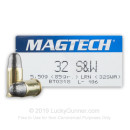 Cheap 32 S&W Ammo For Sale - 85 gr LRN Magtech 32 S&W Ammunition For Sale - 50 Rounds
