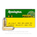 Premium 45 Long Colt Ammo For Sale - 250 Grain LRN Ammunition in Stock by Remington Performance Wheel Gun - 50 Rounds