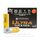 "20 Gauge Ammo - Federal Ultra Heavy Field & Clay 2-3/4"" #7.5 Shot - 25 Rounds"