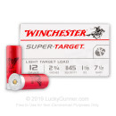 "12 Gauge Ammo - 2-3/4"" 1-1/8 oz. #7-1/2 Lead Shot  - Winchester Super-Target - 250 Rounds"