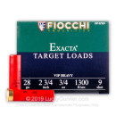 "Bulk 28 Gauge Ammo For Sale - 2-3/4"" 3/4oz. #9 Shot Ammunition in Stock by Fiocchi - 250 Rounds"