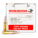 Cheap 223 Rem Ammo For Sale - 55 Grain FMJ Ammunition in Stock by Winchester - 150 Rounds