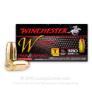 Cheap 380 Auto Ammo For Sale - 95 gr FMJ - Winchester Train & Defend Ammunition - 50 Rounds