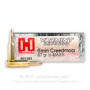 Premium 6mm Creedmoor Ammo For Sale - 87 Grain V-MAX Ammunition in Stock by Hornady Varmint Express - 20 Rounds