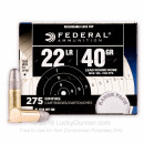 Premium 22 LR Ammo For Sale - 40 Grain LRN Ammunition in Stock by Federal Range Pack - 275 Rounds