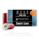 "Cheap 12 Gauge Ammo - 2-3/4"" Lead Shot Target shells - 1 1/8 oz - 7-1/2 shot - Federal Top Gun - 25 Rounds"