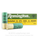 "Bulk 12 ga Ammo For Sale - 2-3/4"" 000 Buck Ammunition by Remington - 250 Rounds"