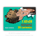 Bulk 7.62x39 Ammo For Sale - 123 gr HP Polymer Coated Ammunition by Brown Bear In Stock - 500 Rounds
