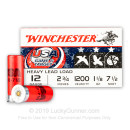 "Cheap 12 Gauge Ammo For Sale - 2-3/4"" 1-1/8oz. #7.5 Shot Ammunition in Stock by Winchester USA Game & Target - 25 Rounds"