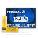 "Cheap 20 Gauge Ammo For Sale - 2-3/4"" 7/8oz. #8 Shot Ammunition in Stock by Federal Top Gun Sporting - 25 Rounds"