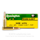 308 Ammo For Sale - 150 gr PSP - Remington Core-Lokt Ammo Online