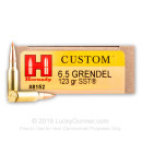 Cheap 6.5 Grendel Ammo For Sale - 123 gr SST Ammunition In Stock by Hornady - 20 Rounds