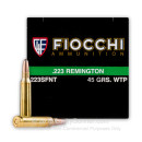 223 Rem - 45 gr Lead Free Frangible Ammo- Fiocchi - 50 Rounds