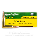Bulk 308 Ammo For Sale - 180 gr PSP - Remington Ammo Online - 200 Rounds