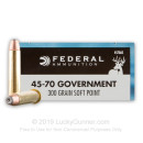 Cheap 45-70 Ammo For Sale - 300 Grain SP Ammunition in Stock by Federal Power-Shok - 20 Rounds