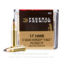 17 HMR Ammo For Sale - 17 gr Hornady V-Max Polymer Tip - Federal V-Shok Ammunition In Stock - 50 Rounds