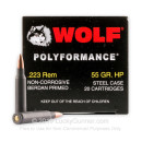 Bulk Wolf WPA Polyformance Ammo 223 Rem Ammunition 55 grain hollow point - 500 Rounds