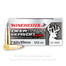Premium 7.62x39 Ammo For Sale - 123 Grain Extreme Point Ammunition in Stock by Winchester Deer Season XP - 20 Rounds