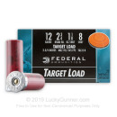 "12 Gauge Ammo - 2-3/4"" Lead Shot Target shells - 1-1/8 oz - #8 - Federal Top Gun - 25 Rounds"