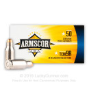 Premium 22 TCM 9R Ammo For Sale - 39 Grain JHP Ammunition in Stock by Armscor USA - 50 Rounds