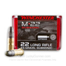 Bulk 22 LR Ammo For Sale - 45 Grain Black CPRN Ammunition in Stock by Winchester Subsonic - 100 Rounds