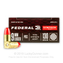 Cheap 9mm Ammo For Sale - 130 Grain Total Synthetic Jacket Ammunition in Stock by Federal Syntech PCC - 50 Rounds