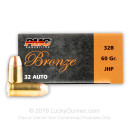Bulk 32 Auto JHP Ammo For Sale - 60 gr JHP PMC Ammo Online - 1000 Rounds