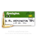 6.8 Special Purpose Cartridge Ammo In Stock  - 115 gr MC - Remington 6.8 Remington Special Purpose Cartridge Ammunition For Sale Online