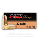 Cheap 32 Auto Ammo For Sale - 71 gr FMJ PMC Ammo Online - 50 Rounds