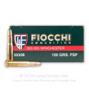 Bulk .30-30 Ammo For Sale - 150 gr PSP With Norma Brass - Fiocchi - 200 Rounds