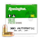 380 Auto Defense Ammo In Stock - 88 gr JHP - 380 ACP Ammunition by Remington UMC- 600 Rounds