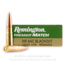 Bulk 300 AAC Blackout Ammo For Sale - 125 Grain OTM Ammunition in Stock by Remington Premier Match - 200 Rounds