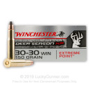 Cheap 30-30 Win Ammo For Sale - Polymer TIpped 150 Grain Ammunition in Stock by Winchester Deer Season - 20 Rounds