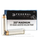 Cheap 357 Magnum Personal Defense Ammo For Sale - 125 gr JHP Federal Ammo Online - 20 Rounds