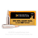 Premium 300 WSM Ammo For Sale - 165 Grain Nosler Partition Ammunition in Stock by Federal Vital-Shok - 20 Rounds