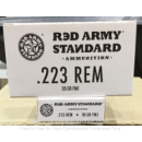 Cheap 223 Rem Ammo For Sale - 55 Grain FMJ Ammunition in Stock by Red Army Standard - 20 Rounds