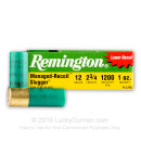 "Cheap 12 Gauge Ammo For Sale - 2-3/4"" 1 oz. Rifled Slug Ammunition in Stock by Remington Slugger Managed Recoil - 5 Rounds"
