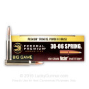 Premium 30-06 Ammo For Sale - 180 Grain Nosler Partition - Ammunition in Stock by Federal Vital-Shok - 20 Rounds