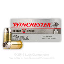 Bulk 45 ACP Ammo For Sale - 230 Grain JHP Ammunition in Stock by Winchester Win 1911 - 500 Rounds