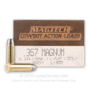 Cheap 357 Mag - 158 gr Lead Flat Nose - Magtech Cowboy Action Loads - 50 Rounds