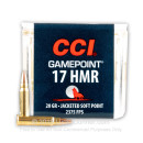 17 HMR Ammo For Sale - 20 gr JSP - CCI Gamepoint Ammunition In Stock - 50 Rounds
