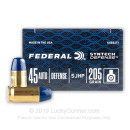 Premium 45 ACP Ammo For Sale - 205 Grain SHP Ammunition in Stock by Federal Syntech Defense - 20 Rounds