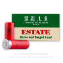 """Cheap 12 Gauge Ammo - Estate Game and Target 2-3/4"""" #6 Shot - 25 Rounds"""