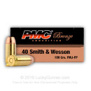 Cheap 40 S&W Ammo For Sale - 180 gr FJMJ Ammunition by PMC In Stock - 50 Rounds
